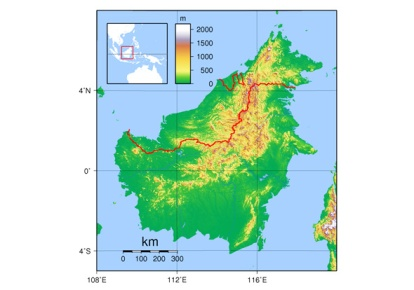 Map of Borneo