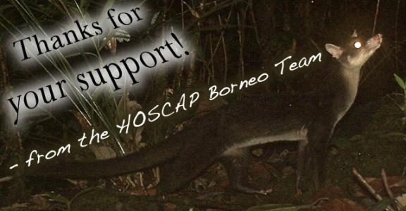 Thanks, from HOSCAP Borneo