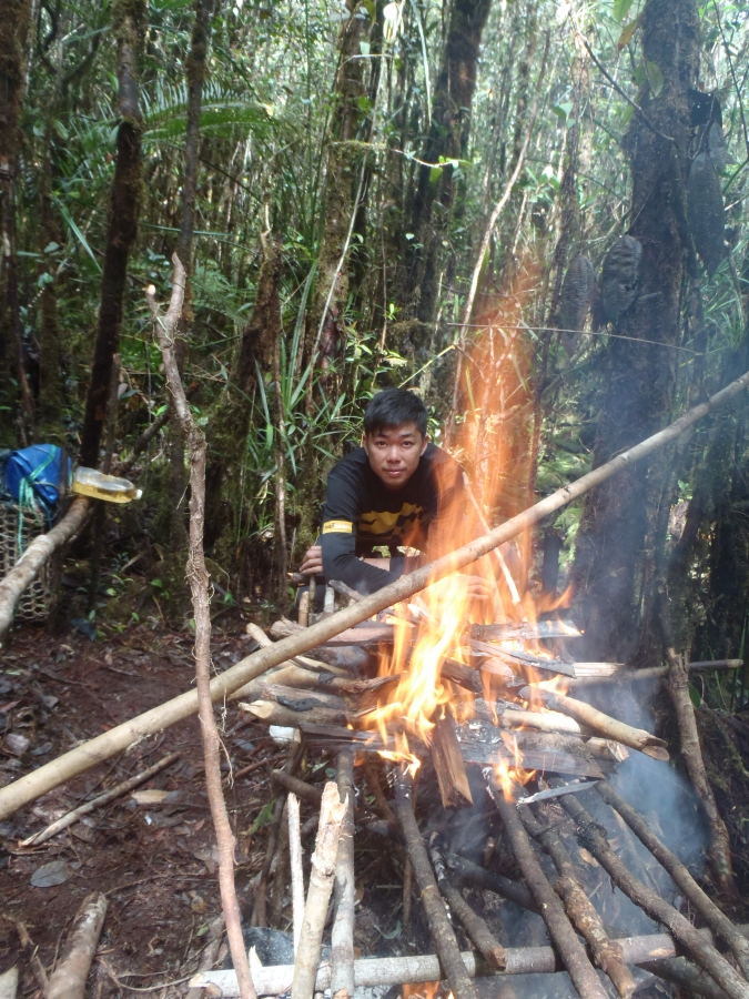 Nick by the camp fire