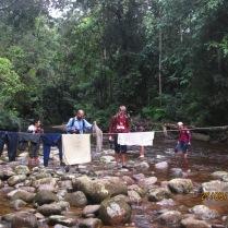 Daily stream crossing