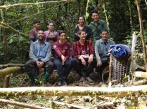 John Mathai & HOSCAP Borneo team photo at camp