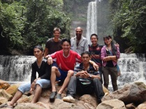 John Mathai & HOSCAP Borneo team at Sela'an Falls
