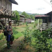 HOSCAP Borneo main guide Robert Lajo at the Penan village of Long Main