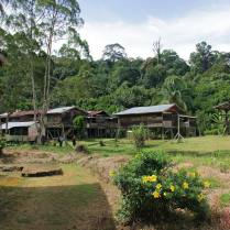 At the Penan village of Long Main