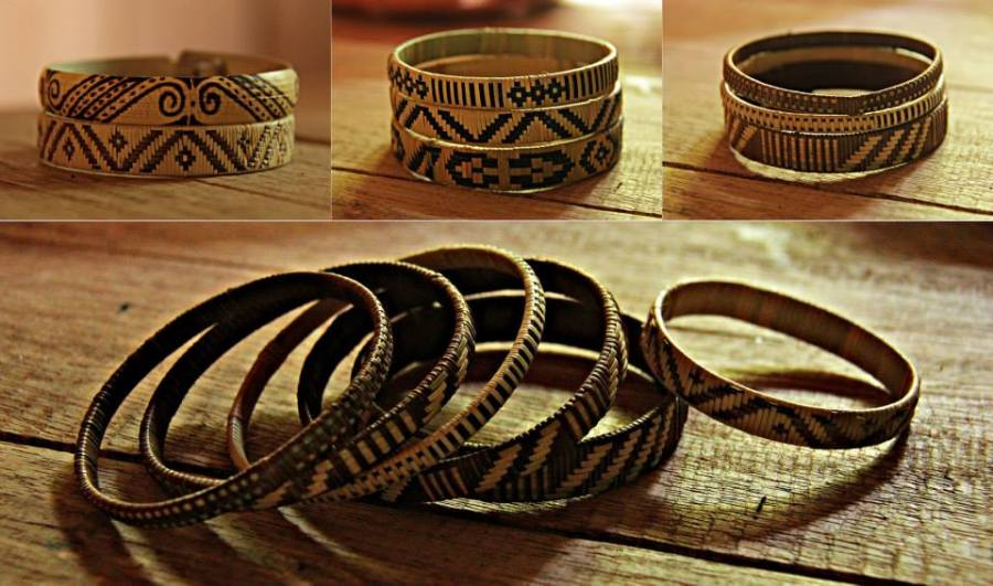 Penan bracelets made in Long Kepang