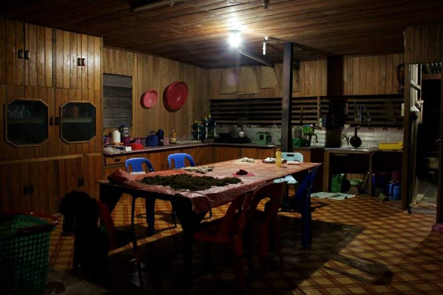 The kitchen of the proposed Nature School at Long Lellang