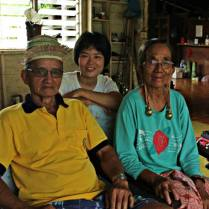 Sandra Wong with Bapa and Ibu at Long Lellang
