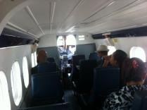 On the twin -otter flight back to Miri