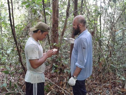 John Mathai_training to construct habitat plots_HOSCAP Borneo_Leibniz Institute