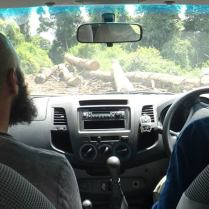 John Mathai & Azlan Mohamed mapping out roads and access in Deramakot Forest Reserve, Sabah
