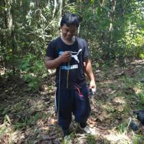 Azrie with the compass